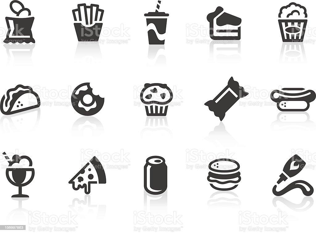 Junk Food icons vector art illustration