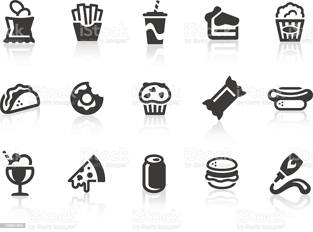 Junk Food icons vector art illustration