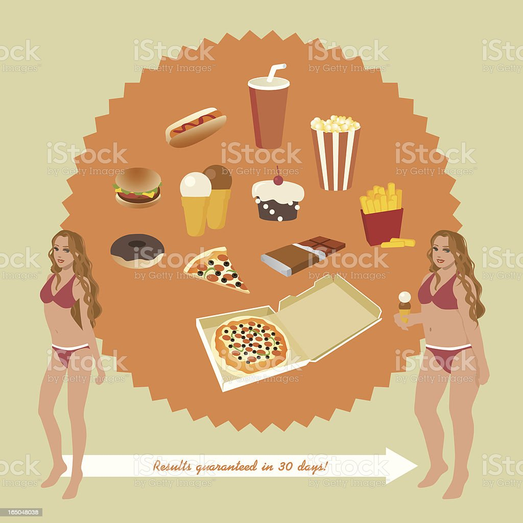 Junk food junkie royalty-free stock vector art