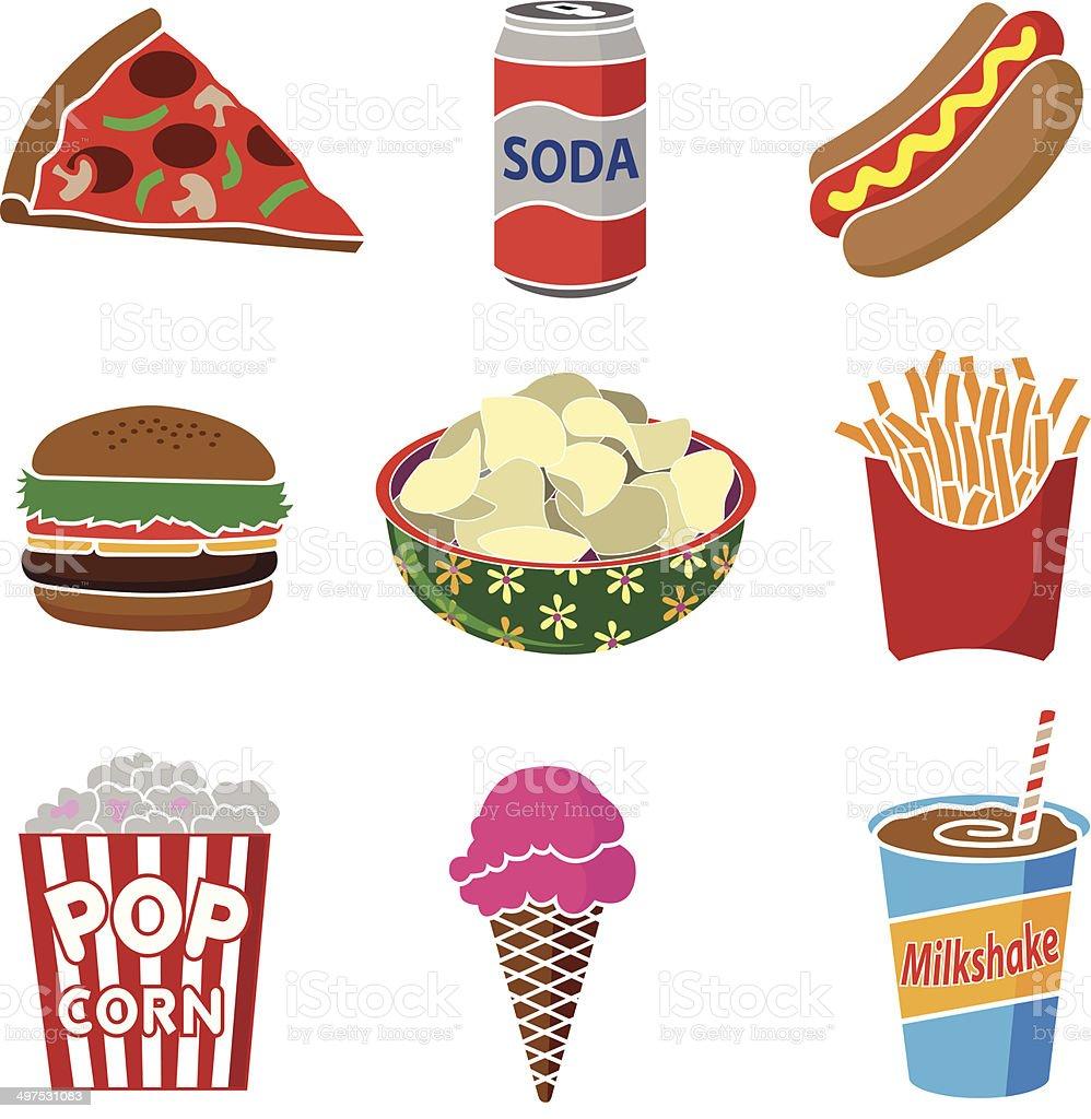 junk food royalty-free stock vector art