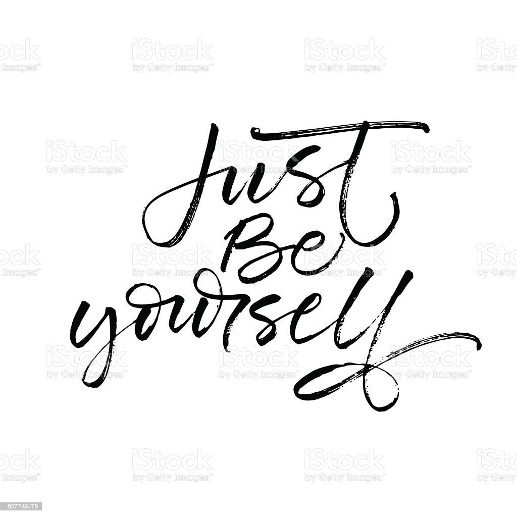 Just be yourself postcard. vector art illustration
