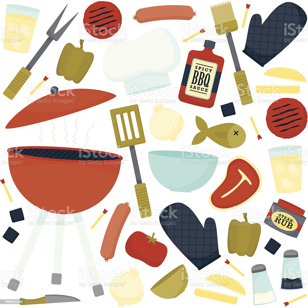 Just Grill Out vector art illustration