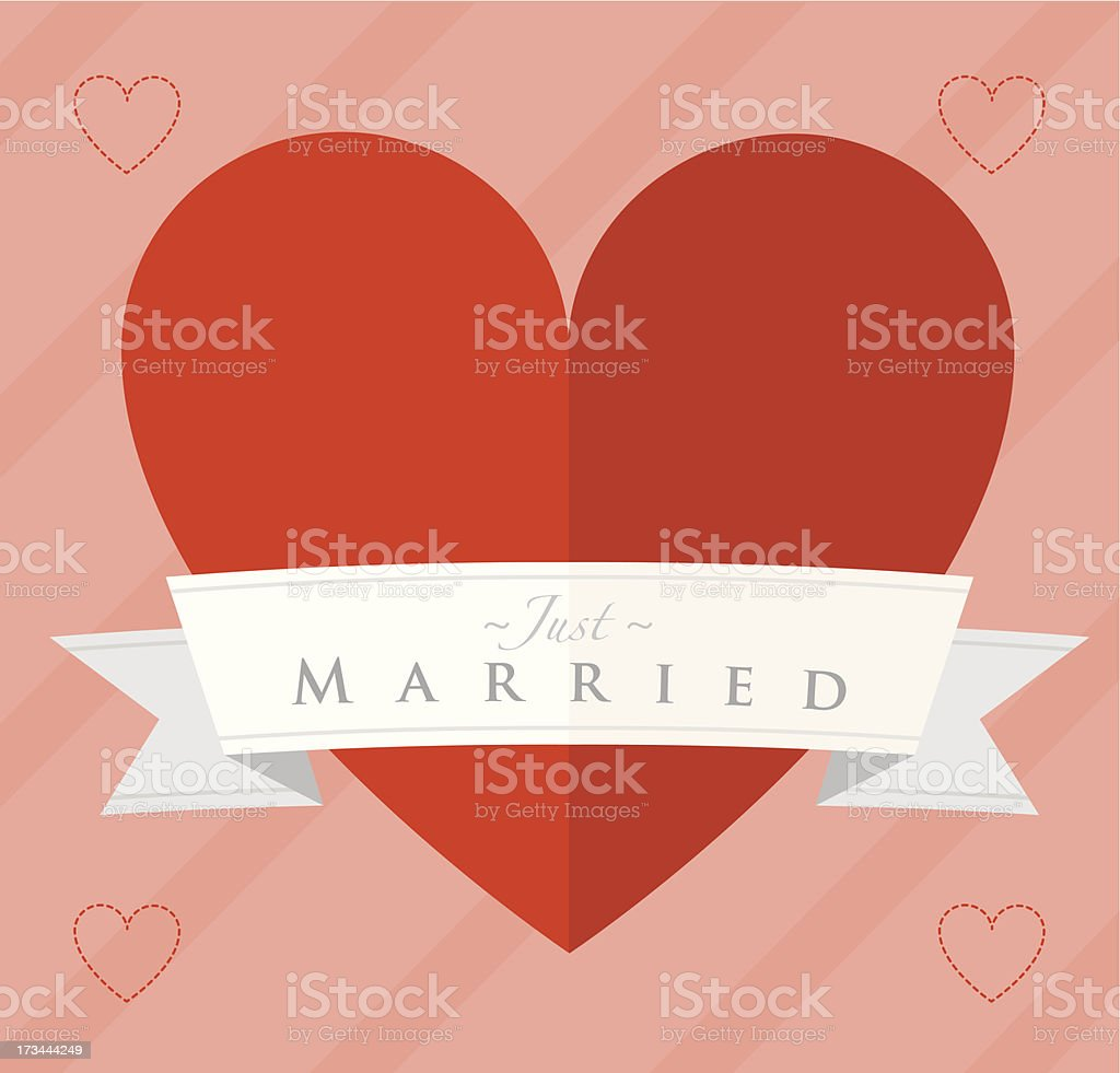 Just married heart design royalty-free stock vector art