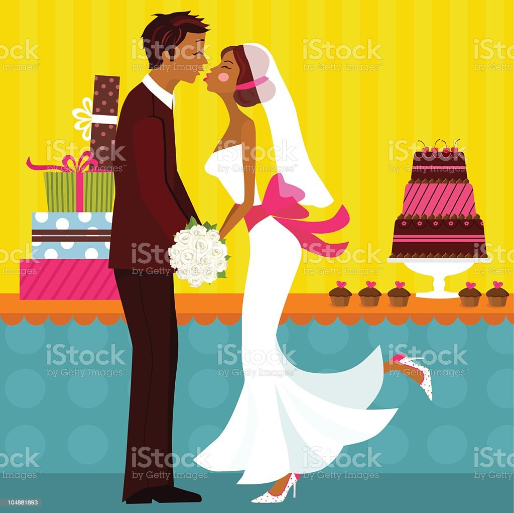 Just Married! royalty-free stock vector art