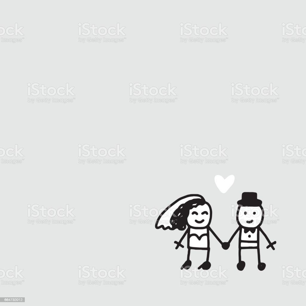Just married vector illustration vector art illustration