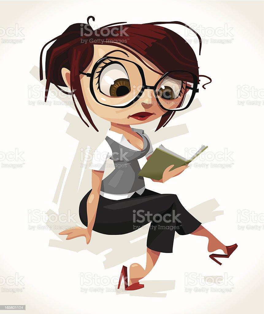 Just reading vector art illustration