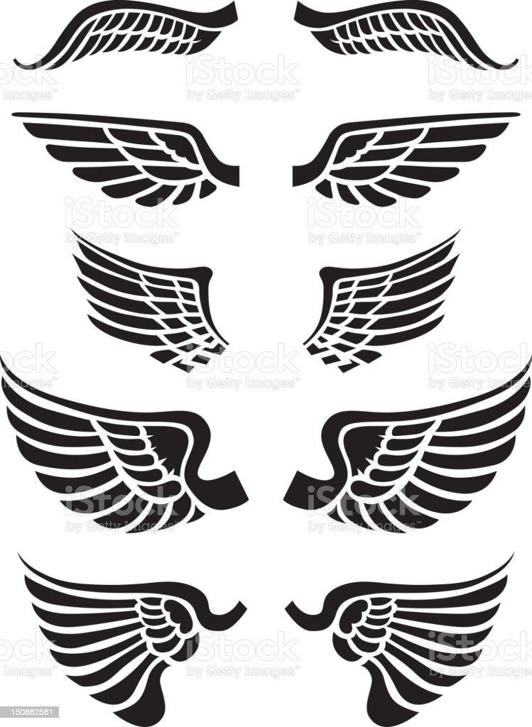 Just wings vector art illustration