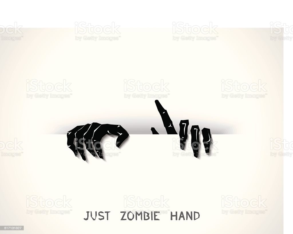 Just zombie hands from the slit vector art illustration