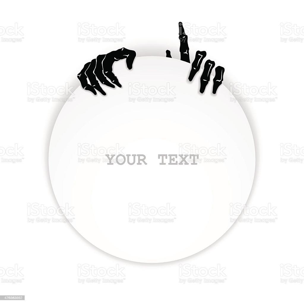 Just zombie hands vector art illustration
