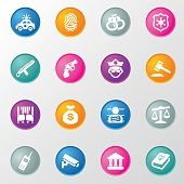 Justice and Law Circle Color Icons