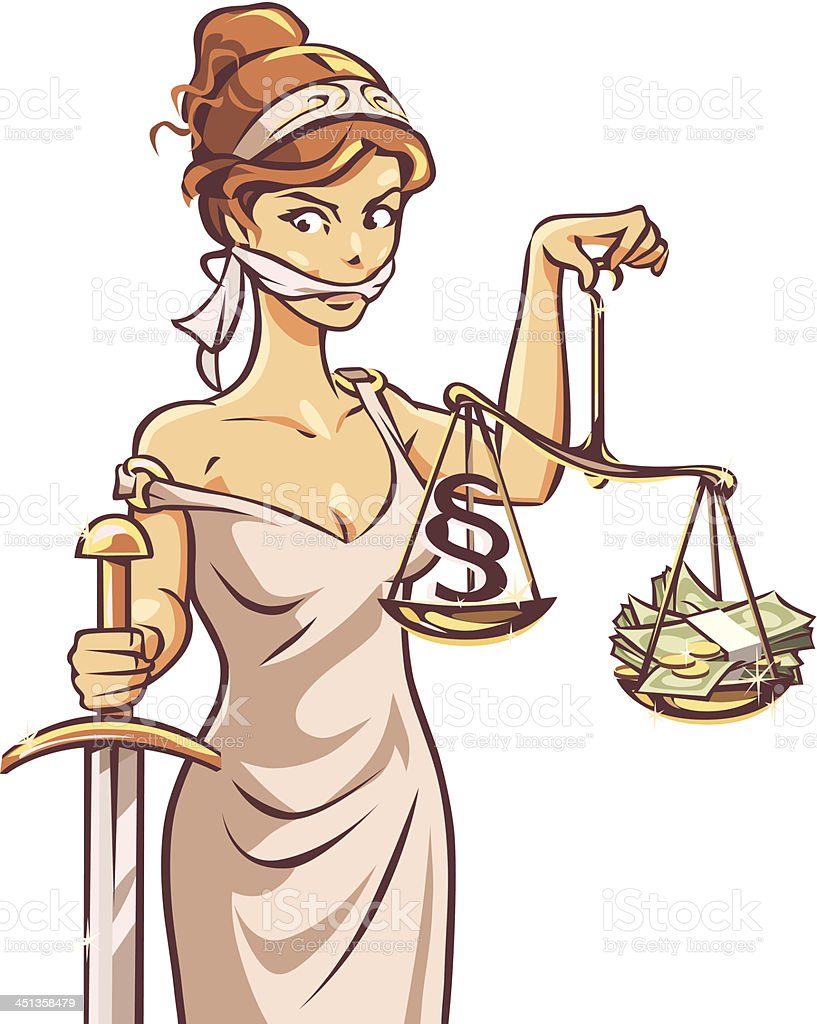 Justice and Money royalty-free stock vector art