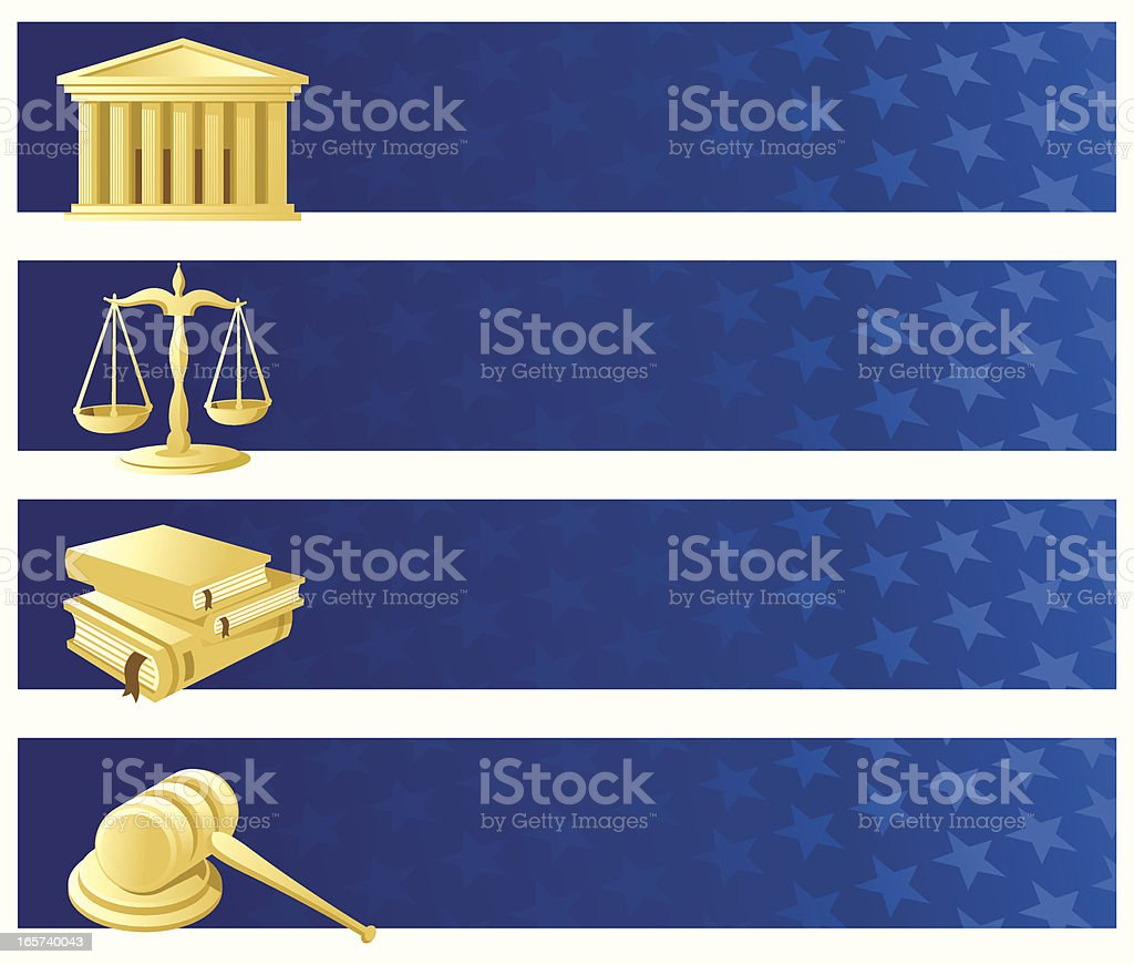 Justice banner set royalty-free stock vector art