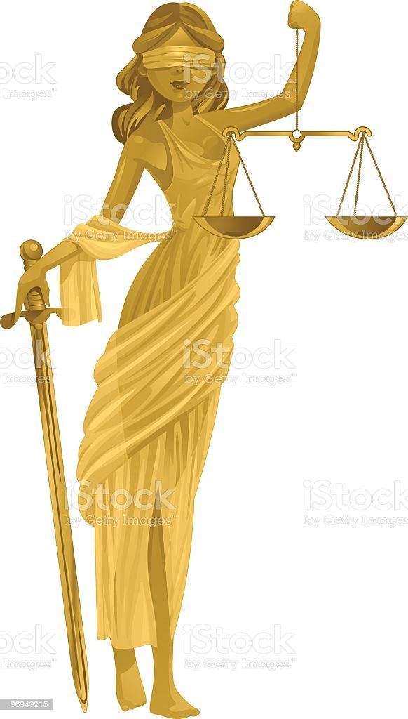 Justice Gold royalty-free stock vector art