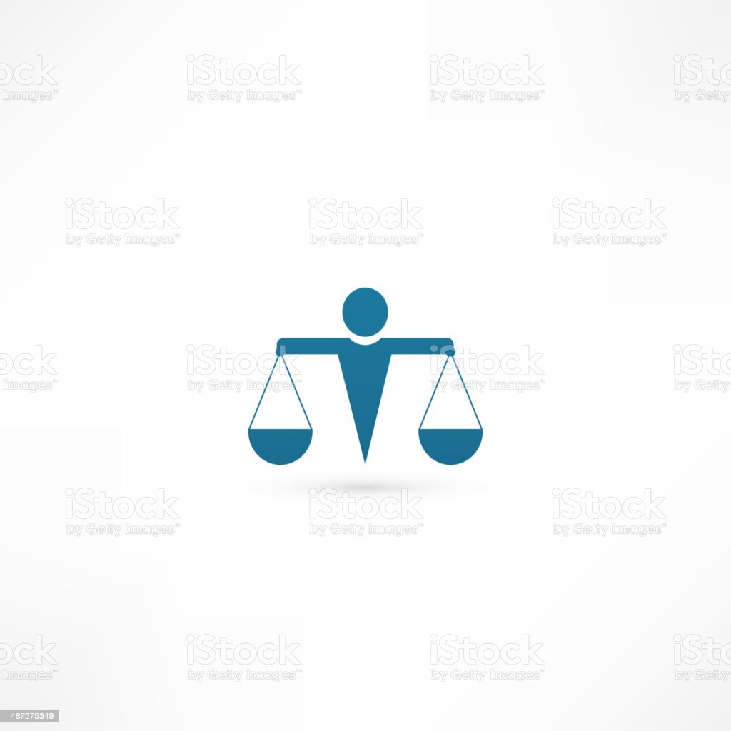 justice icon vector art illustration