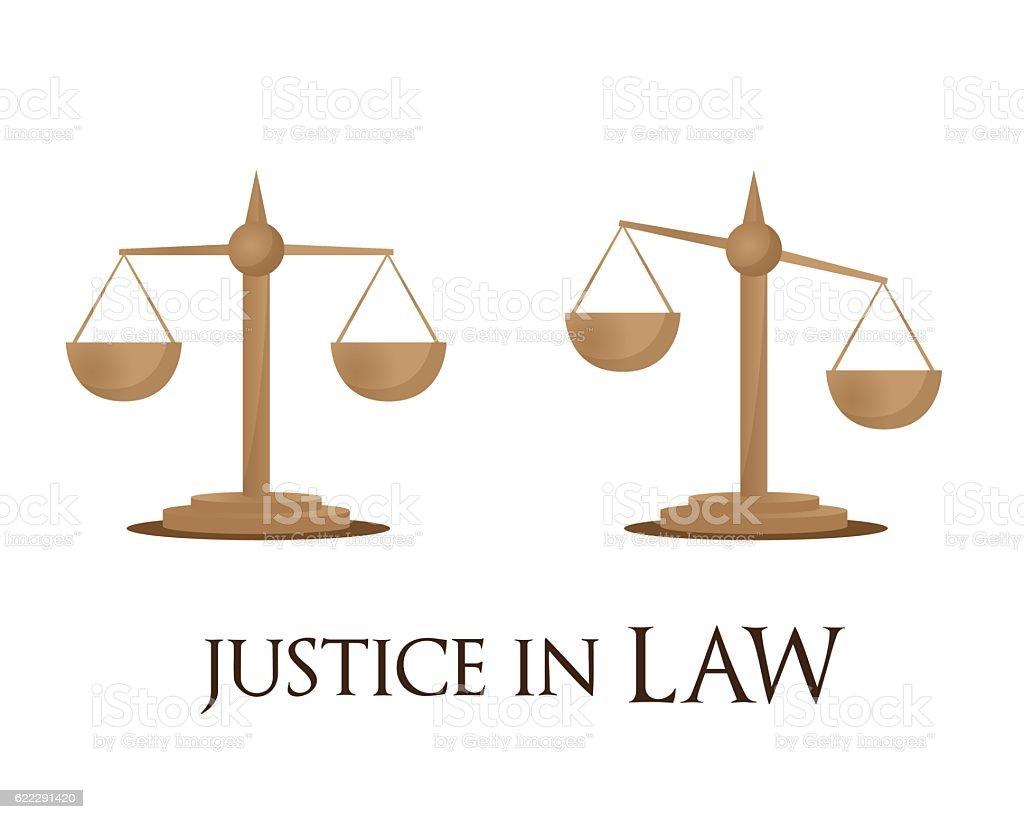 justice in law vector art illustration