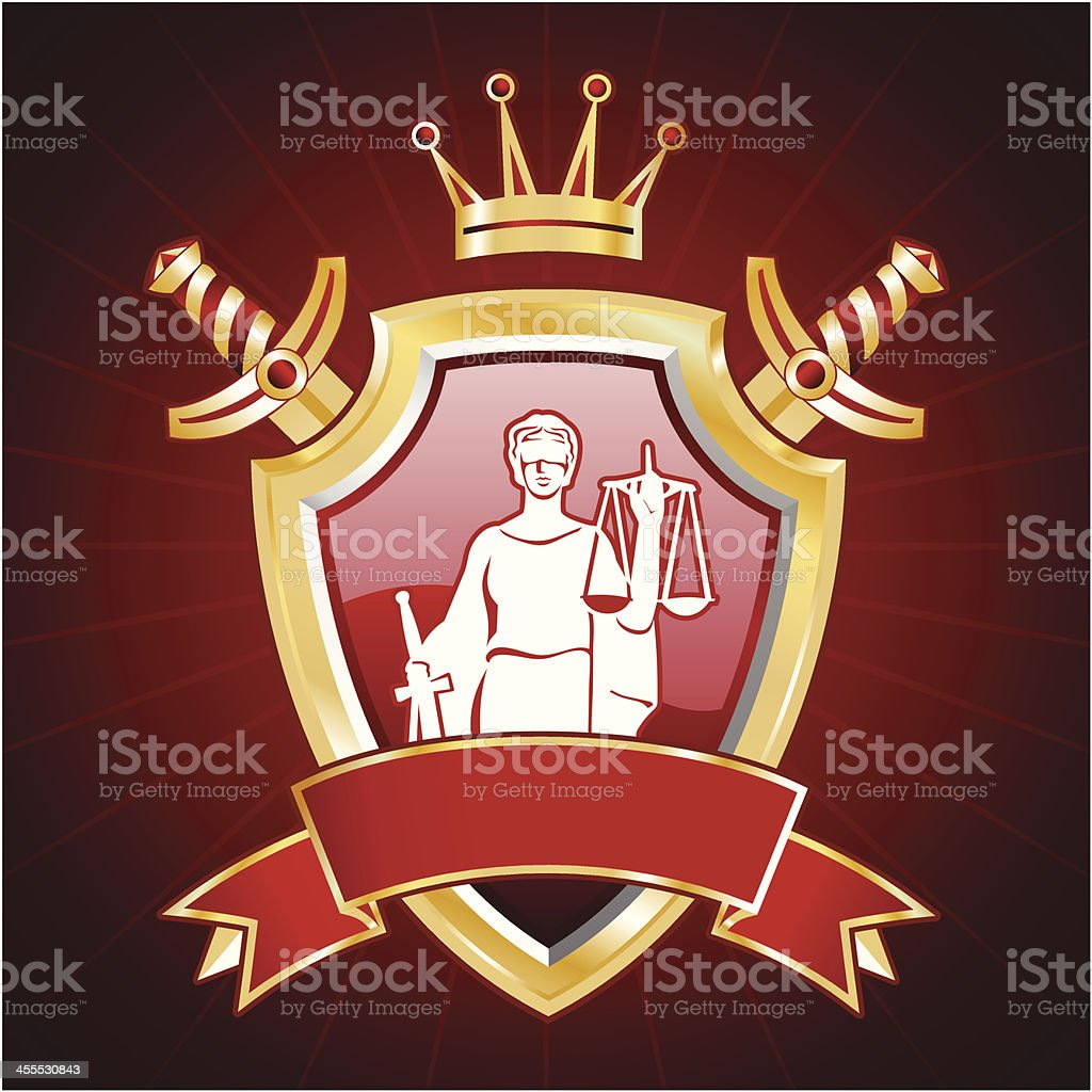 Justice insignia royalty-free stock vector art