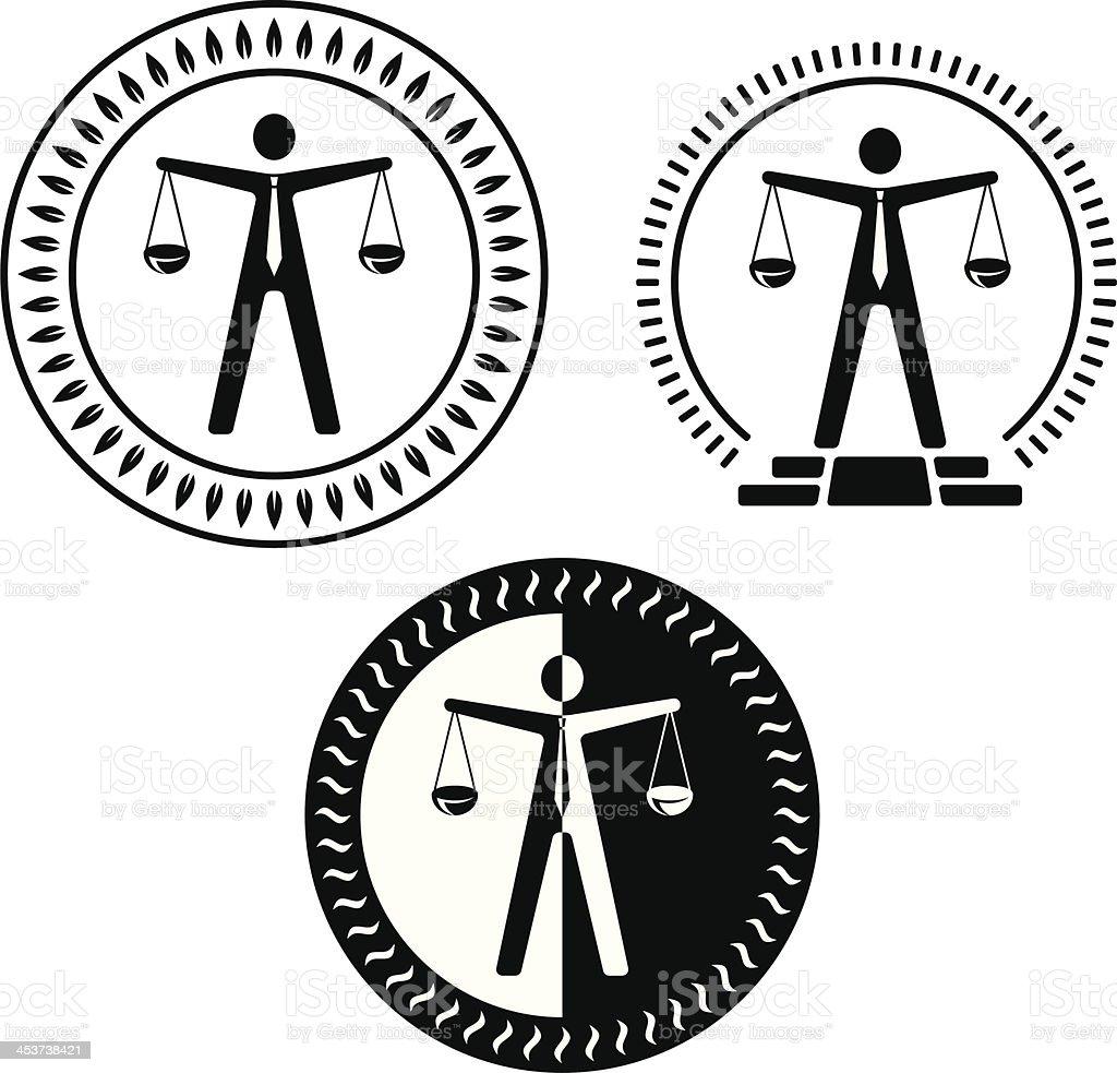 Justice man royalty-free stock vector art