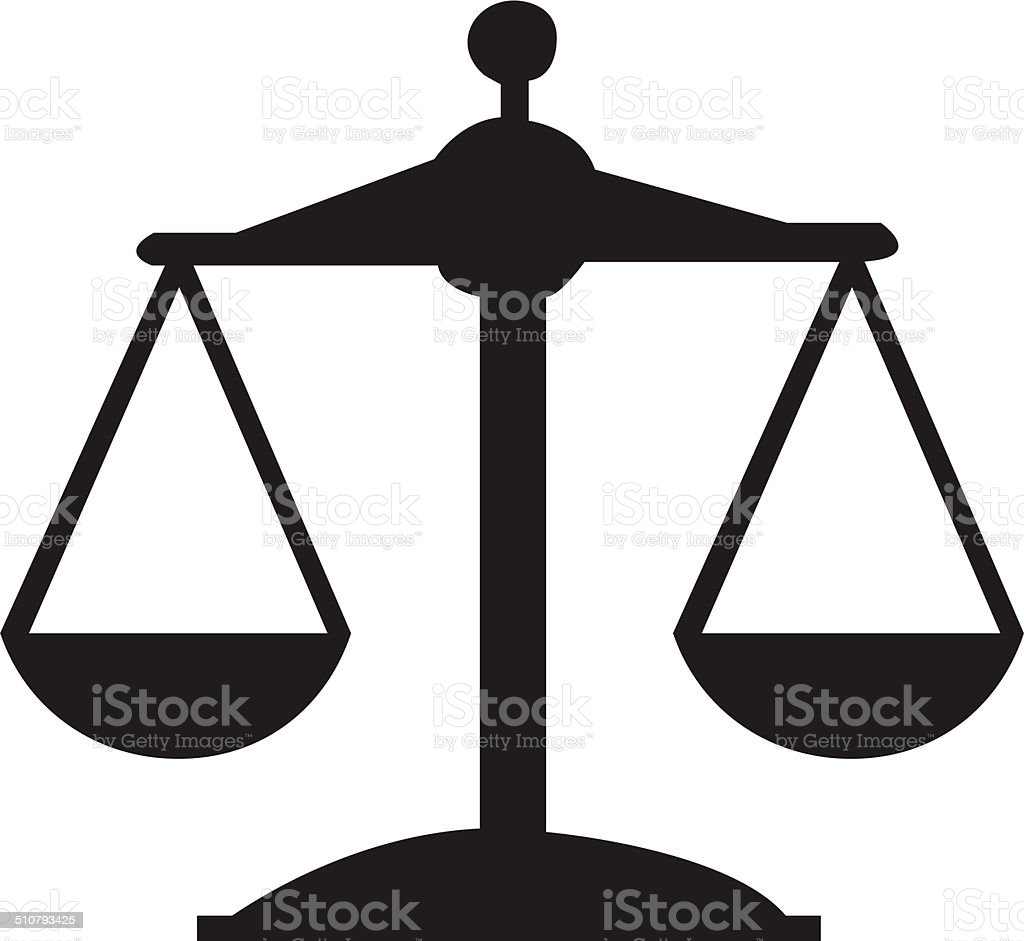 Justice or Scale Icon vector art illustration