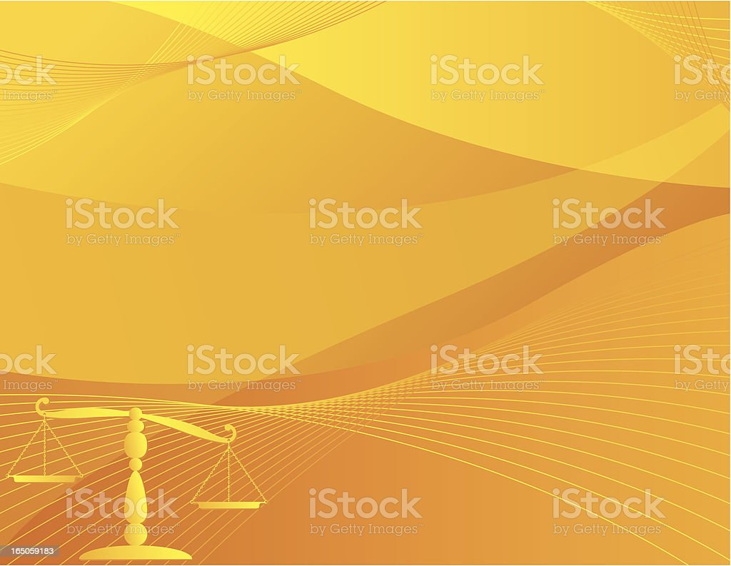 Justice Scale Background - Orange royalty-free stock vector art