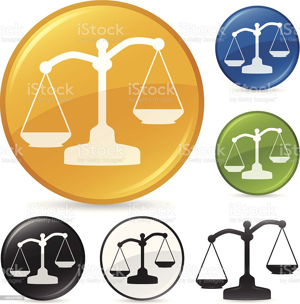 Justice Scale Balance Icon vector art illustration