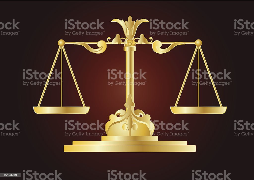 Justice scale vector art illustration