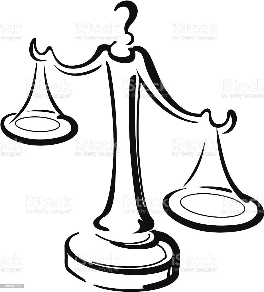 Justice Scale royalty-free stock vector art