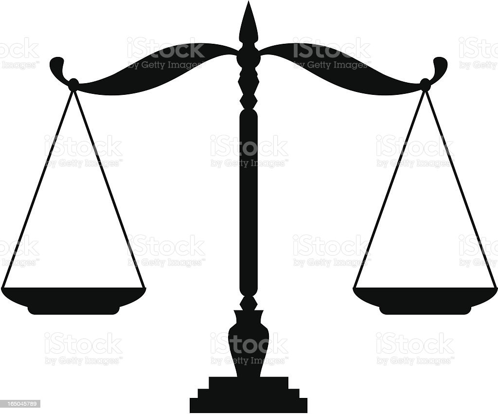 Justice Scales vector art illustration