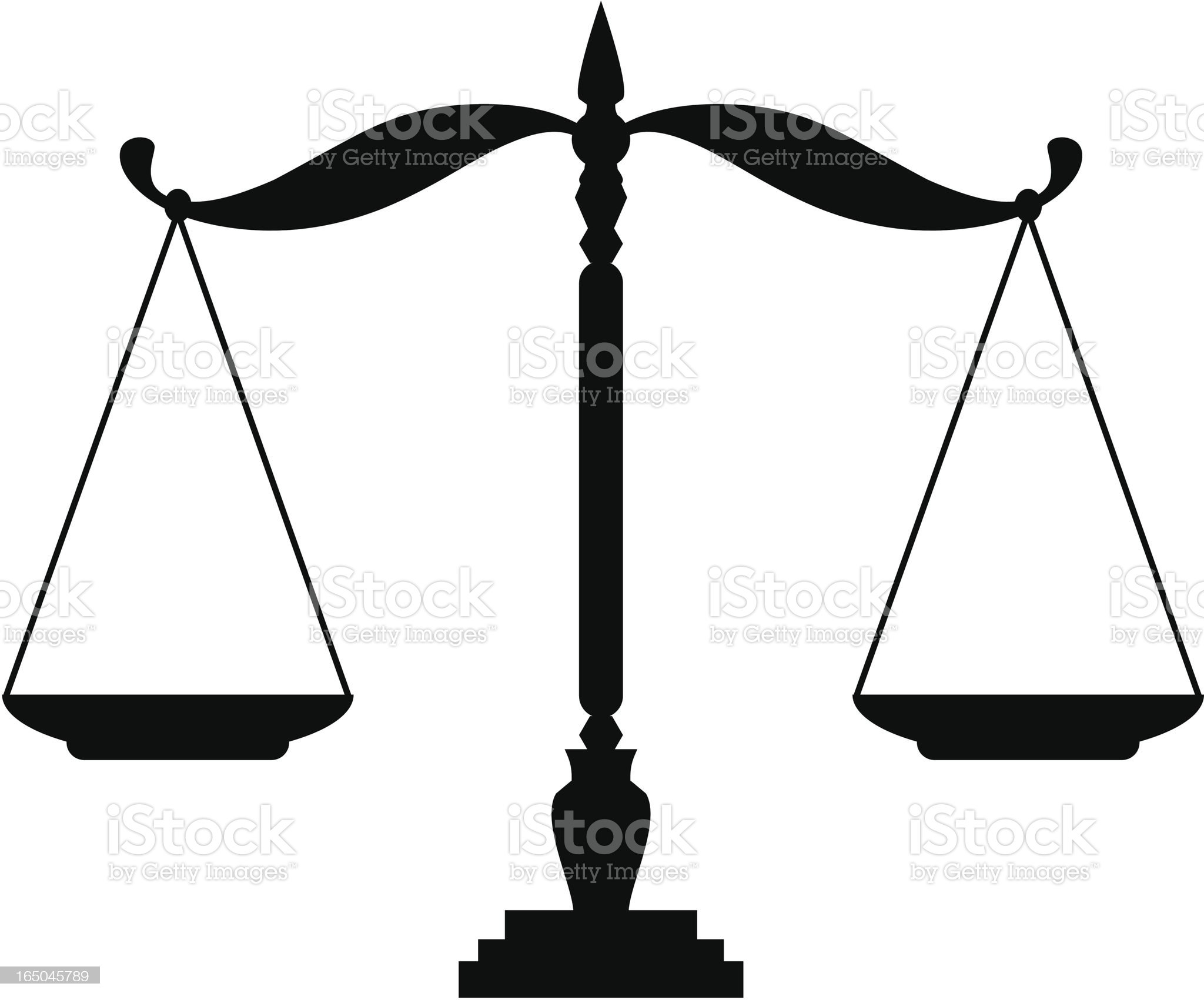 Justice Scales royalty-free stock vector art
