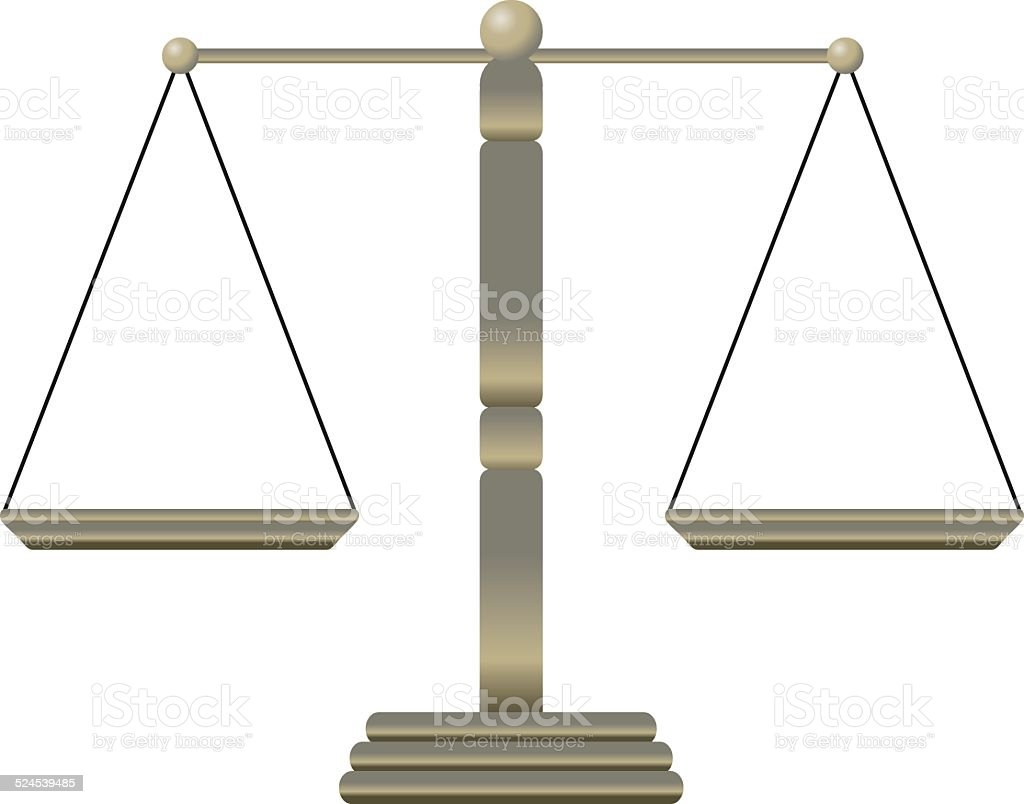 Justice Scales Vector vector art illustration