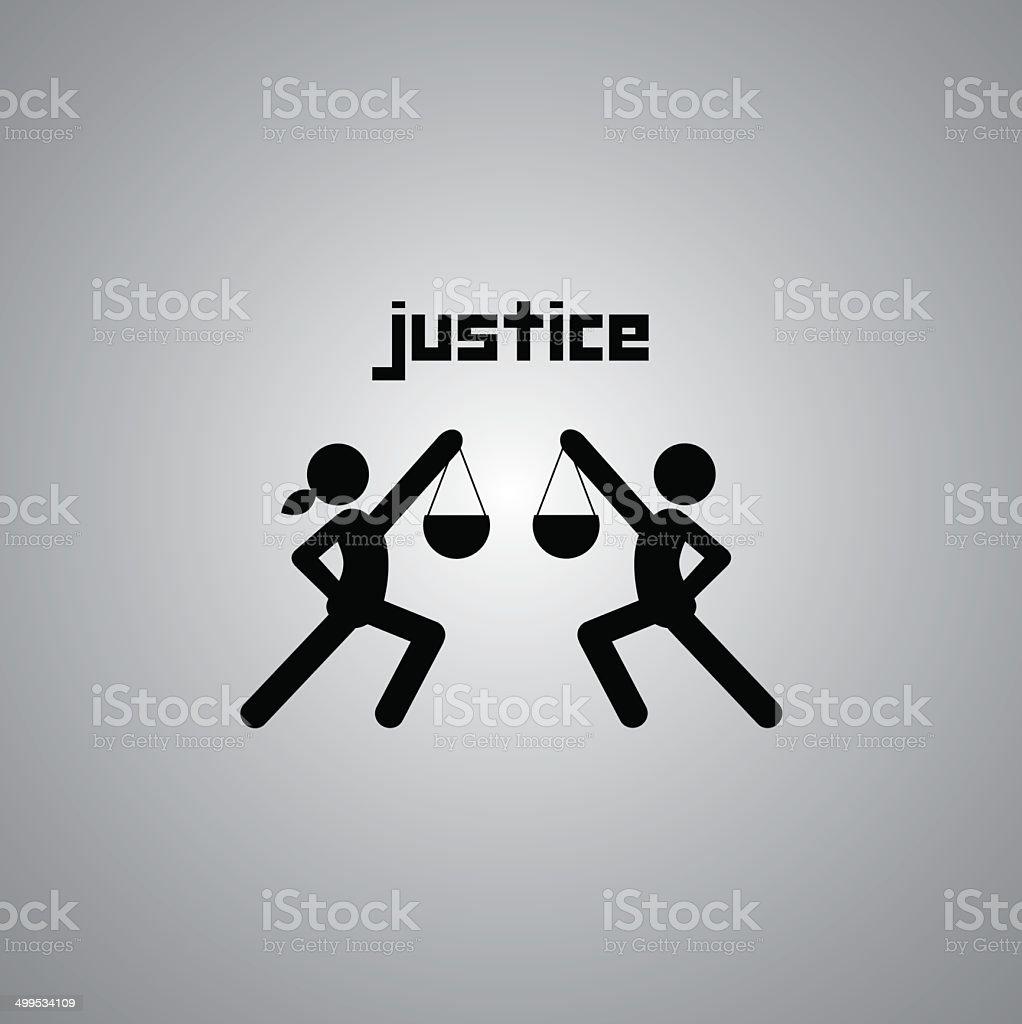 justice symbol vector art illustration