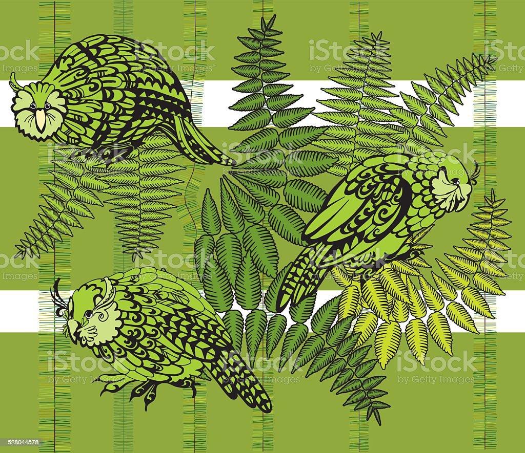 Kakapo vector illustration vector art illustration