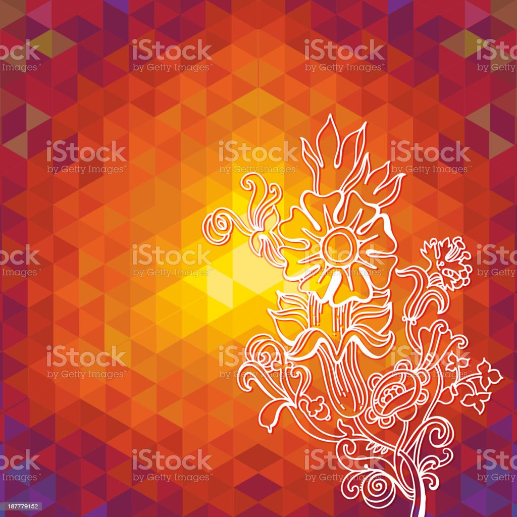 Kaleidoscope geometric dark pattern. Abstract  vector background. Greeting card royalty-free stock vector art
