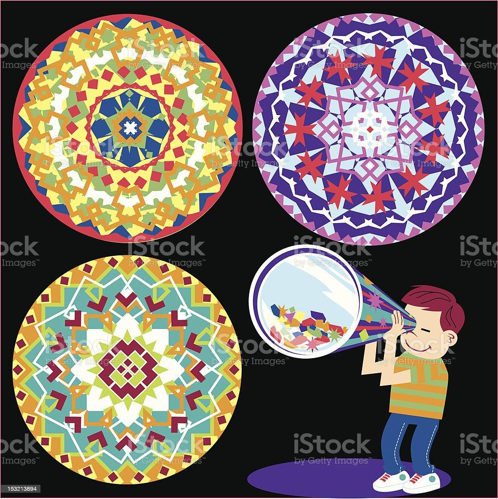 Kaleidoscope Kid royalty-free stock vector art