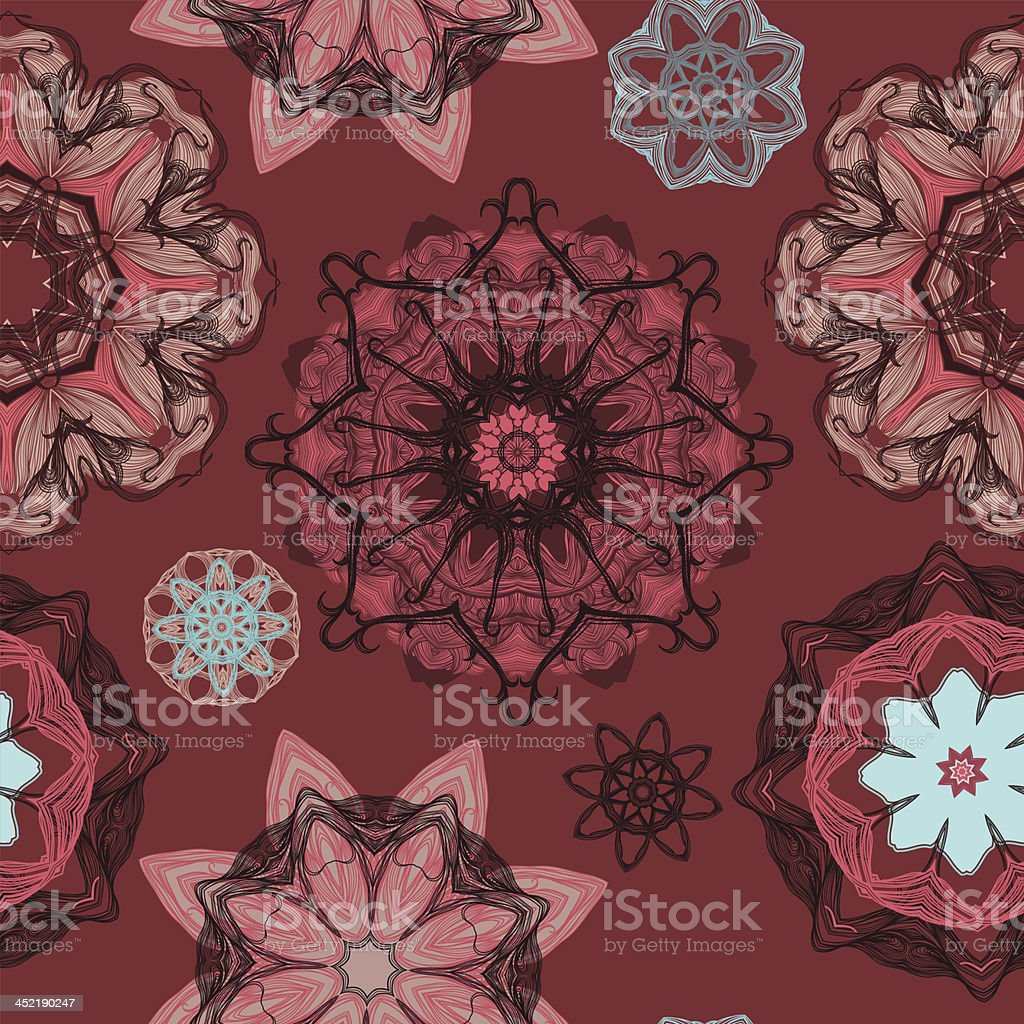 Kaleidoscope mandala caramel royalty-free stock vector art