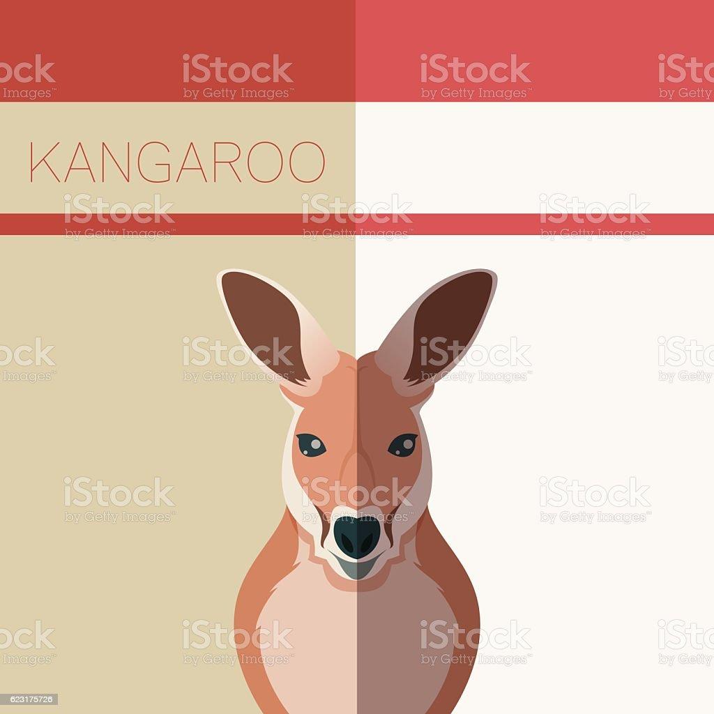 Kangaroo Flat Postcard vector art illustration