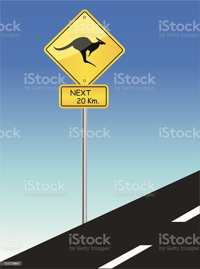 Kangaroo sign Australia royalty-free stock vector art