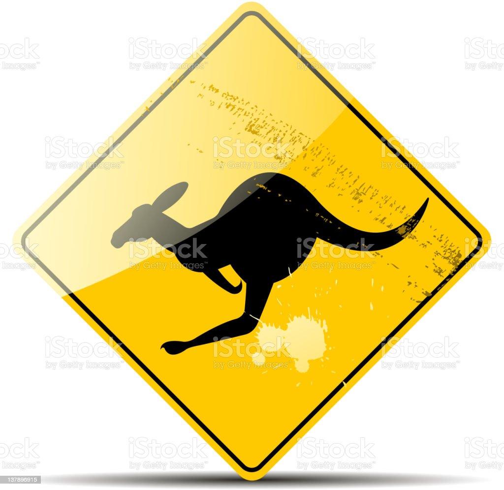 kangaroo sign vector art illustration