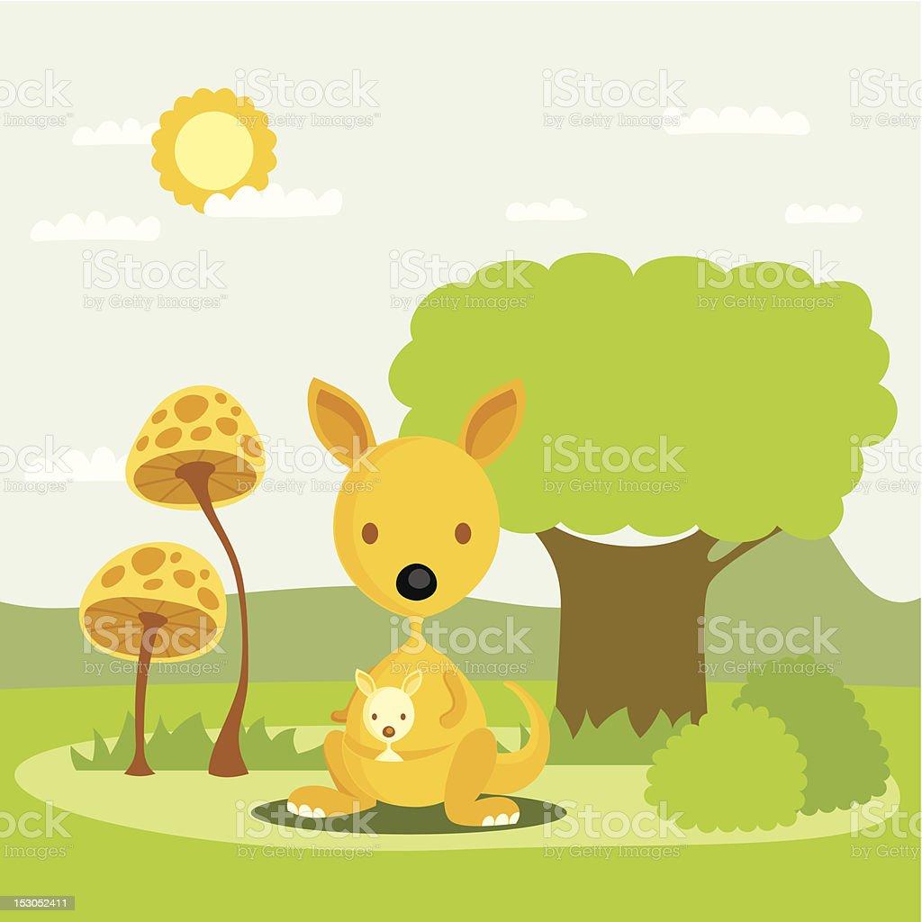 kangaroo royalty-free stock vector art