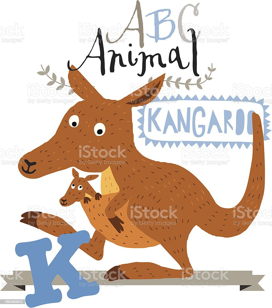 ABC kangaroo royalty-free stock vector art