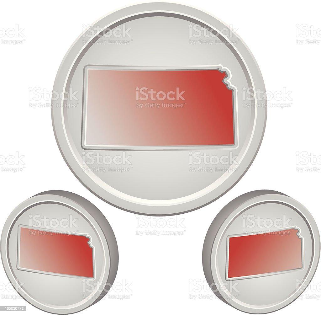 Kansas Button royalty-free stock vector art
