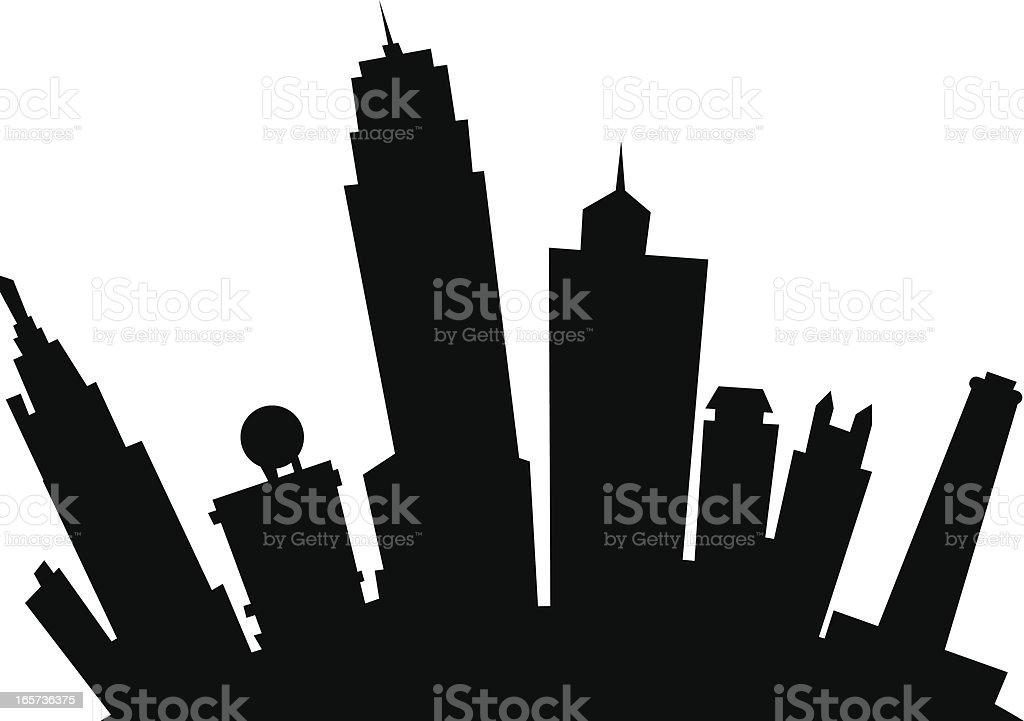 Kansas City Cartoon Silhouette royalty-free stock vector art