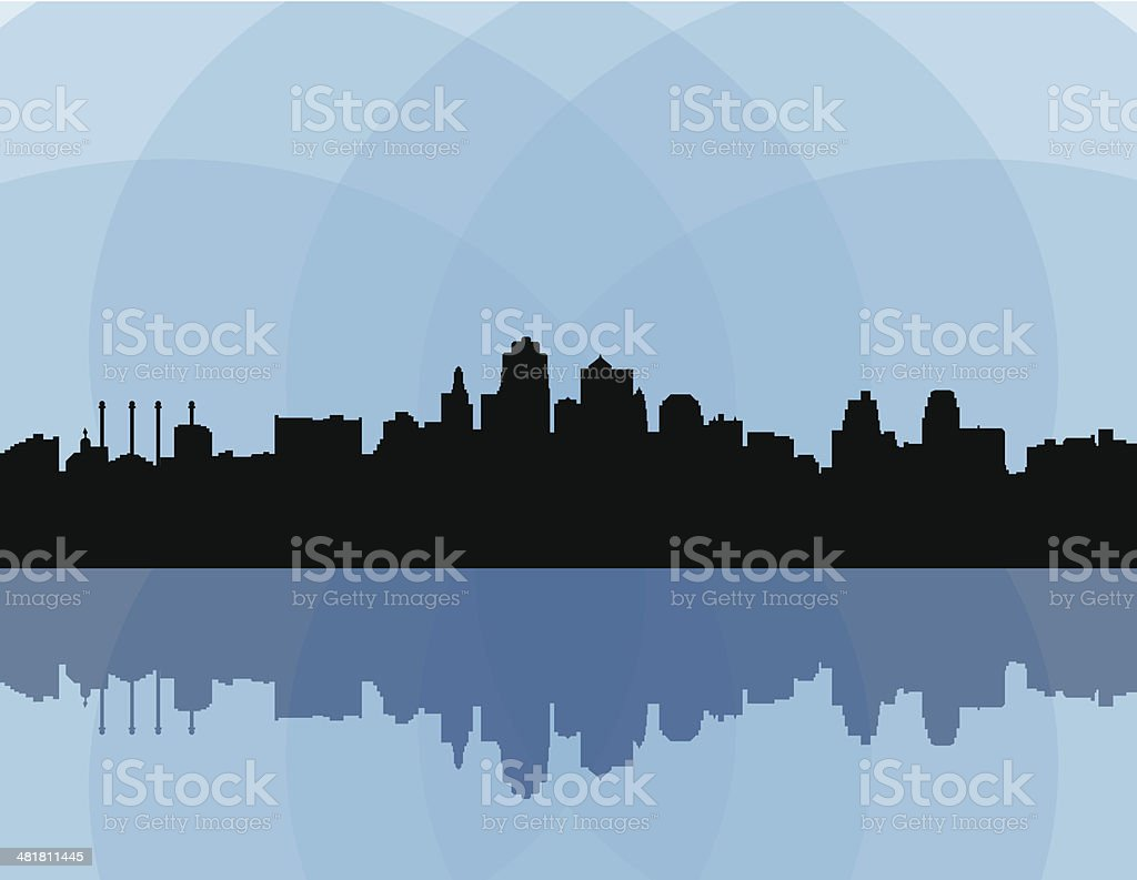 Kansas City Skyline royalty-free stock vector art