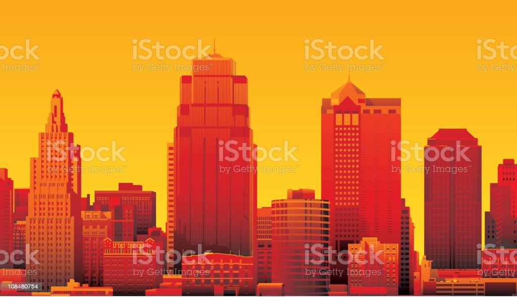 Kansas City royalty-free stock vector art