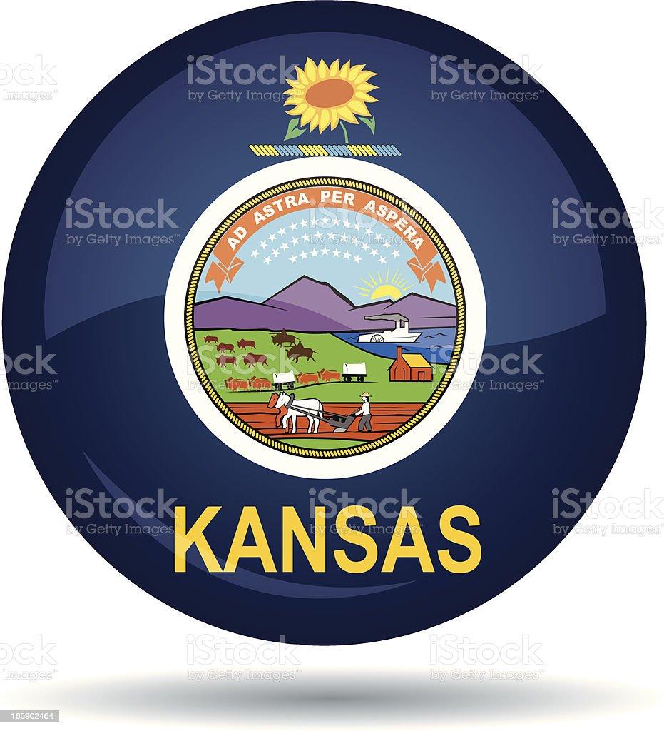 Kansas flag vector art illustration