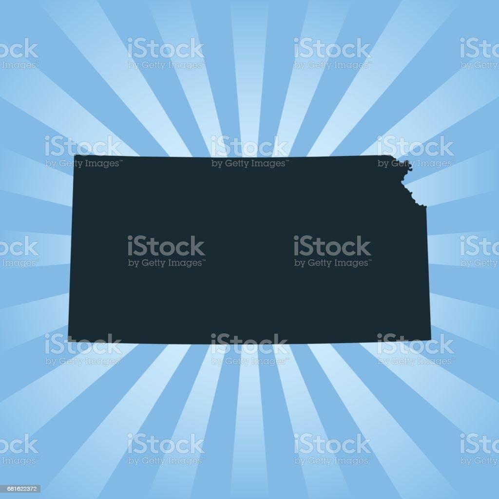Kansas map vector art illustration