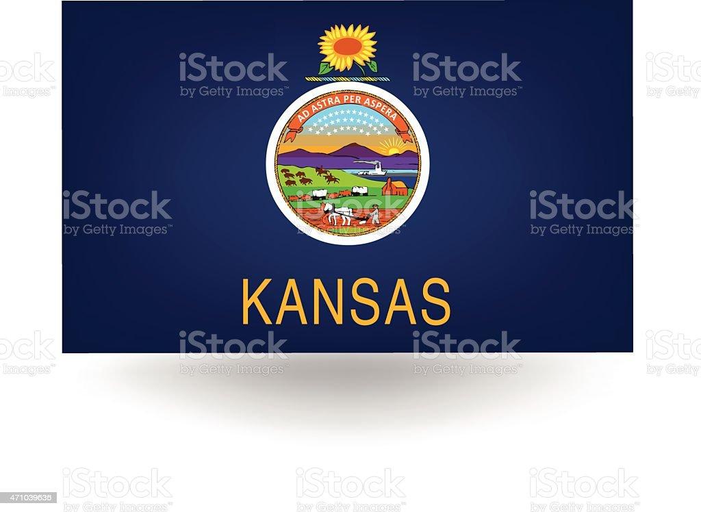 Kansas State Flag vector art illustration