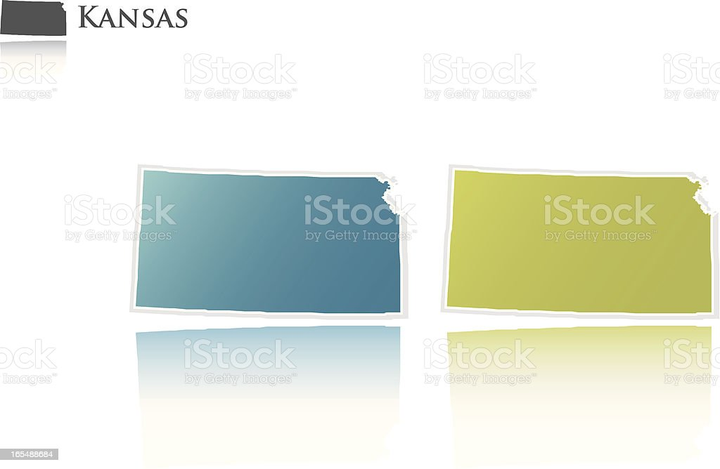 Kansas state graphic royalty-free stock vector art