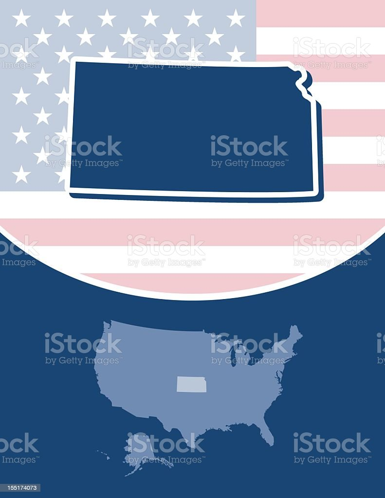 Kansas state series royalty-free stock vector art
