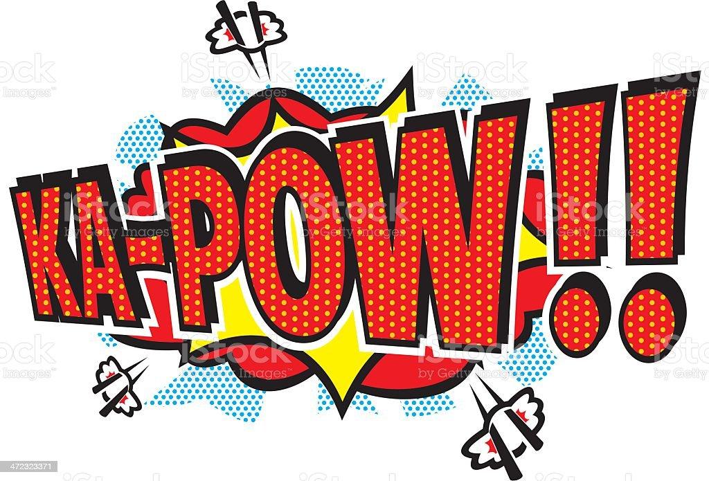 Ka-Pow!! royalty-free stock vector art