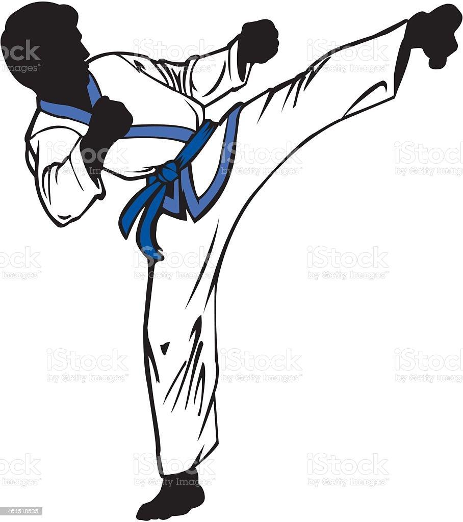 Karate Kick royalty-free stock vector art